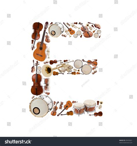 4 Letter Words Made From Violin musical instruments with letter e made pictures to pin on
