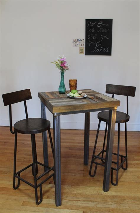 bistro tables for kitchen reclaimed pallet and barn wood pub bistro kitchen table crux
