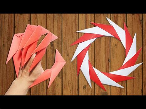 How To Make Origami Wolverine Claws - how to make a paper gauntlet doovi