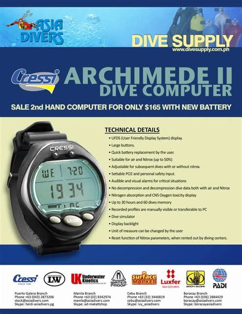 dive computers for sale june 2012