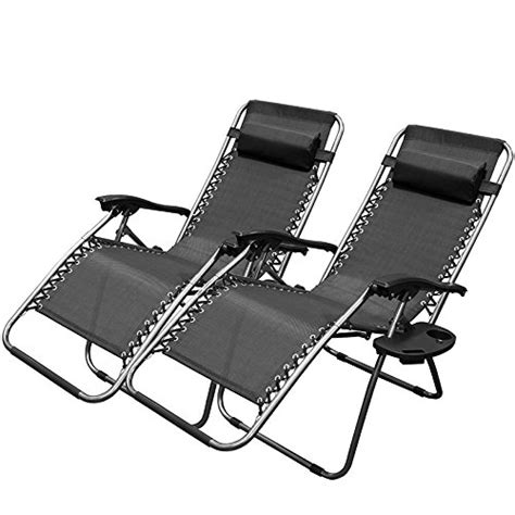 adjustable reclining chair xtremepowerus black zero gravity adjustable chair set of 2