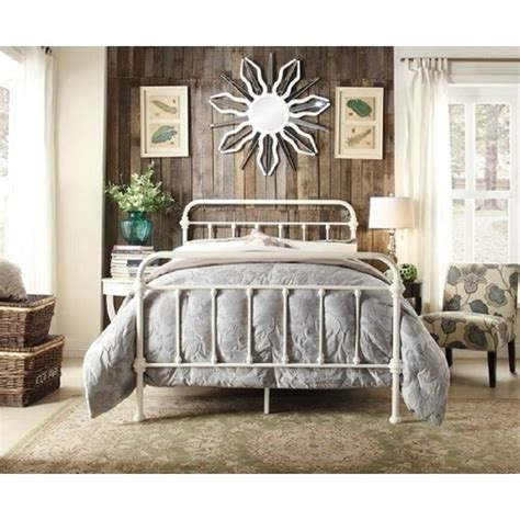 modern size bed frame monaco size modern metal bed frame in white buy