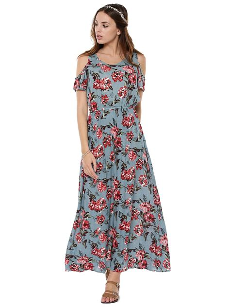 Rena Maxy by Buy Rena Floral Print Cold Shoulder Maxi Dress For