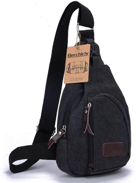 Tas Selempang Casual Canvas Unbalance Backpack Hitam 1 tas selempang kasual bahan canvas black jakartanotebook