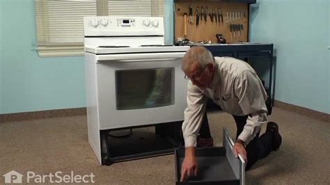 bottom drawer on oven purpose range stove oven repair replacing the rear drawer glide