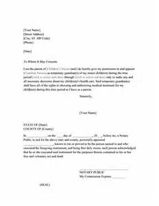 power of attorney letter for child care printable