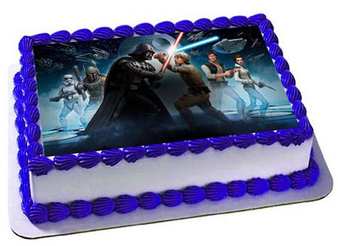 Wars Edible Cake Decorations by Wars Cake Topper Wars Edible Images Customized