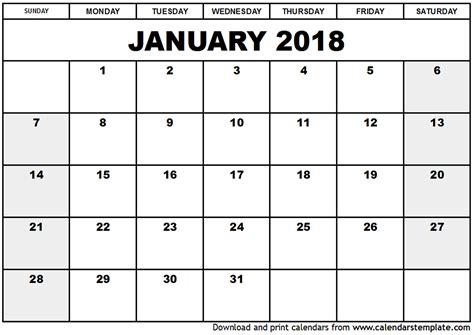 printable monthly calendar 2018 singapore january 2018 calendar singapore printable templates with