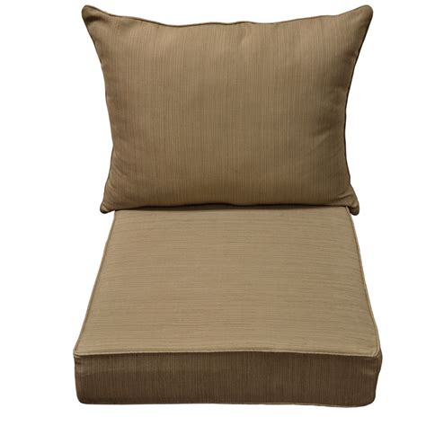 outdoor seat cushions shop allen roth outdoor square solid wheat