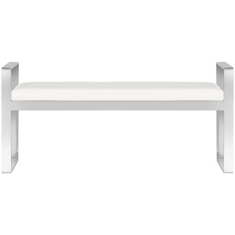 white upholstered bench city furniture angelo white upholstered bench