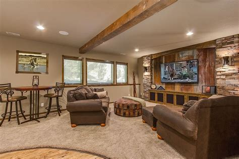 rustic basement ideas rustic finished basement ideas new at cool subreader co