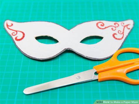 How To Make An Mask Out Of Paper - how to make a paper mask 14 steps with pictures wikihow