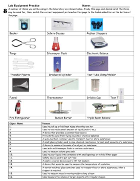 laboratory equipment worksheet science lab equipment worksheet worksheets for school toribeedesign