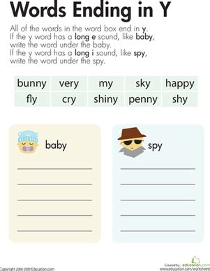 exle of y as a vowel vowel sounds y as quot e quot and quot i quot worksheet