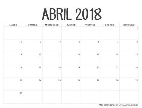 406kb calendario en blanco para imprimir calendario en blanco viewing calendario abril 2018 calendarios pinterest