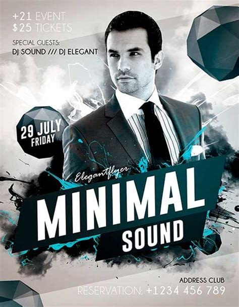 Freepsdflyer Minimal Sound Free Psd Flyer Template Free Psd Flyers Templates Free Psd