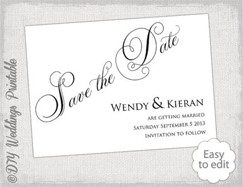 diy save the date templates free save the date template diy calligraphy black wedding save the