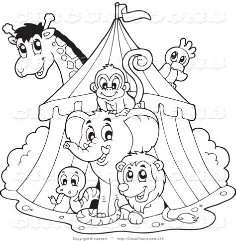 circus clipart of a black and white big top circus tent
