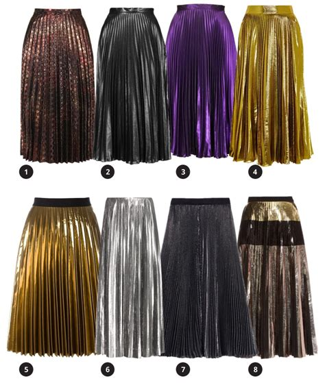 Metallic Pleated Midi Skirt the metallic pleated midi skirt inez daily
