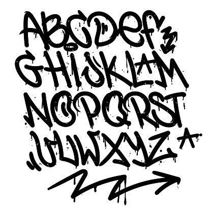 graffiti alphabet stock illustration  image
