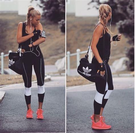 Fashion Setelan Adidas Sport adidas all black fashion fit fitness pink run sport style white
