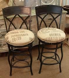 Ballard Designs Stools counter height swivel wrought iron bar stools w feed seed