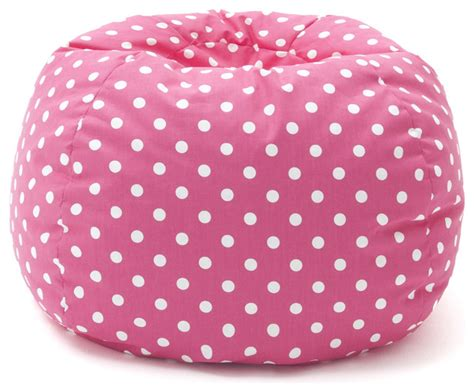 Polka Dot Bean Bag Chair by Beansack Pink Polka Dot Bean Bag Chair