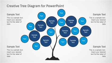 Creative Tree Diagrams For Powerpoint Slidemodel Creative Diagrams