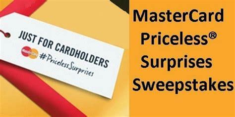 Mastercard Sweepstakes - mastercard priceless surprises sweepstakes sweepstakesbible