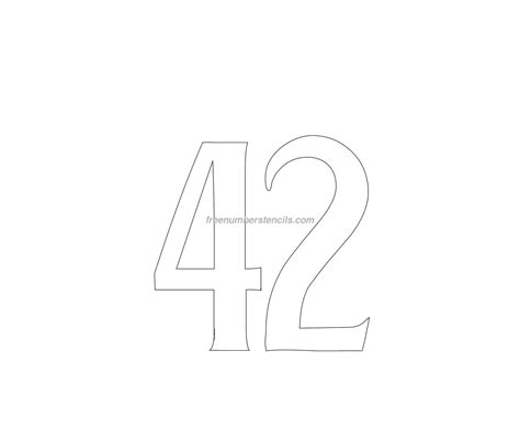 Free House 42 Number Stencil Freenumberstencils Com House Number Template