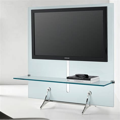 tv shelf design tonelli curtain wall glass tv unit 127cm 1 shelf panik design