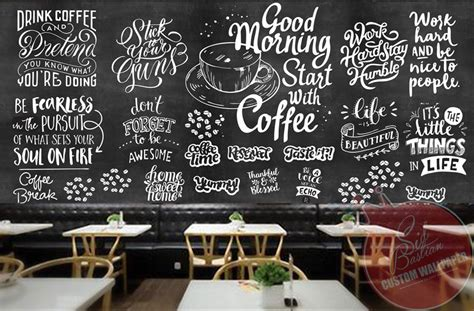jual wallpaper dinding custom buat coffee shop coffeeshop