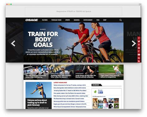 template sports best sports themes for magazines and sports