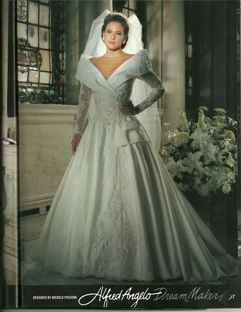 Wedding Portrait by Portrait Collar On An Alfred Angelo Bridal Gown From The