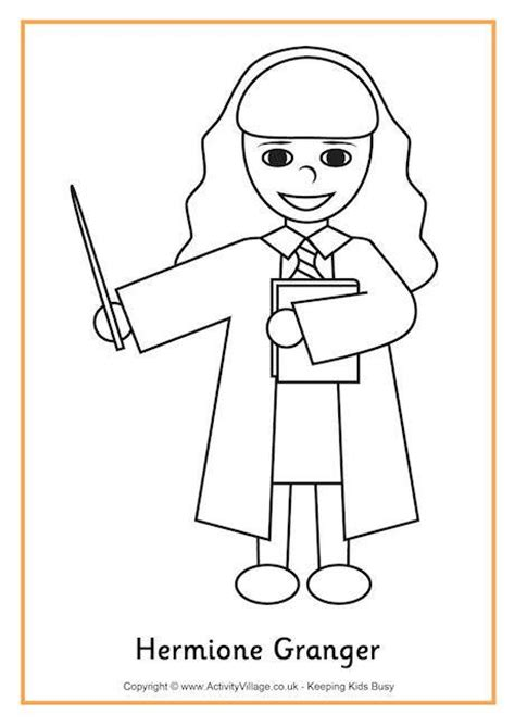 harry potter coloring pages easy hermione granger colouring page 2 harry potter always