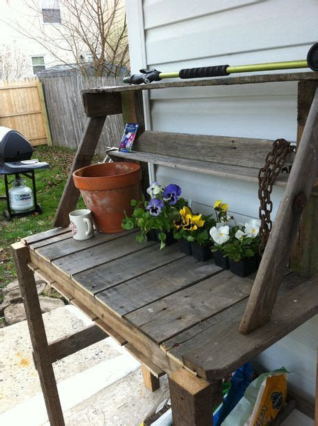 gardening work benches wooden pallete potting bench pictures of style and pictures