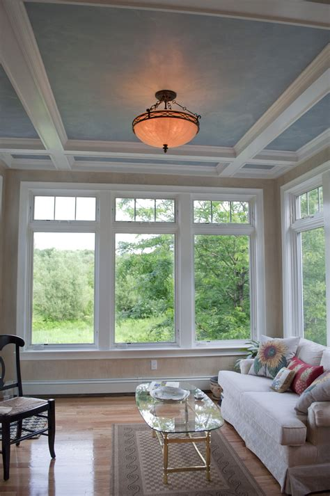 sunroom windows sunroom addition by pnb coffered ceilings with faux