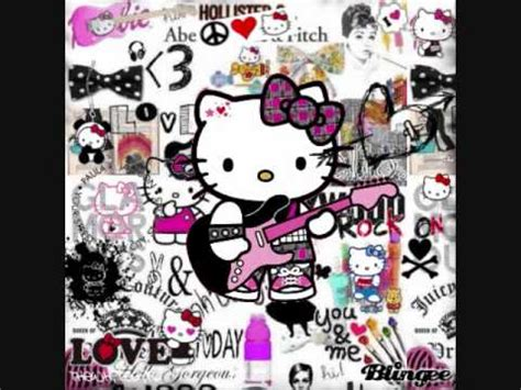hello kitty rock wallpaper hello kitty punk rock youtube
