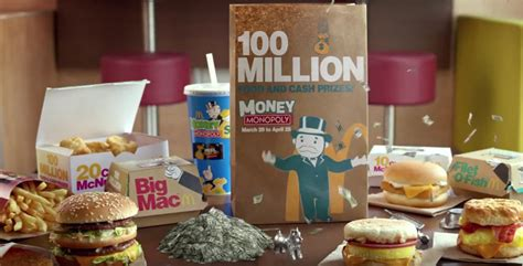 About Com Cash Sweepstakes - money monopoly at mcdonald s tv commercial winzily