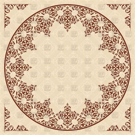 arabic background pattern free download round arabic ornament on light beige background vector