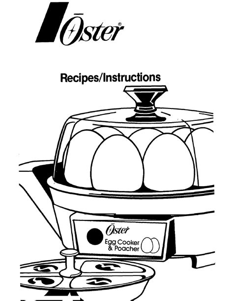 Oster 4716 User S Manual Free Pdf Download 8 Pages
