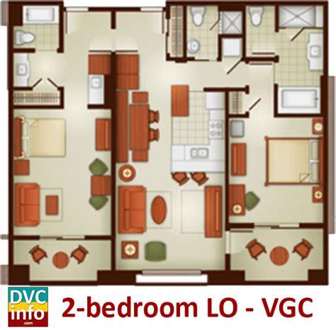 grand floridian 2 bedroom villa floor plan the villas at disney s grand californian hotel spa