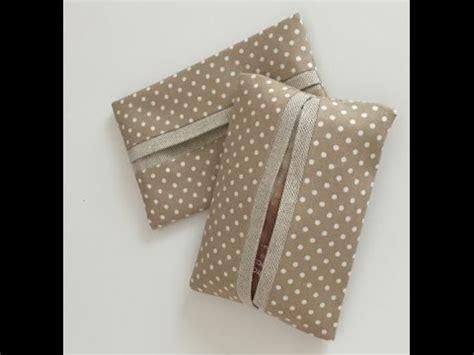 tissue holder pattern sew how to sew a mini tissue pocket holder youtube