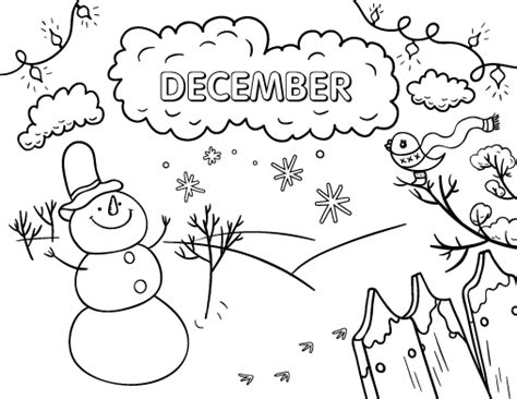 download december coloring page