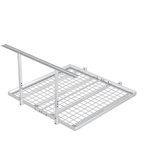 Shelf It Overhead Storage by 4 X4 500lb Overhead Wall Shelf Storage Kit The Garage