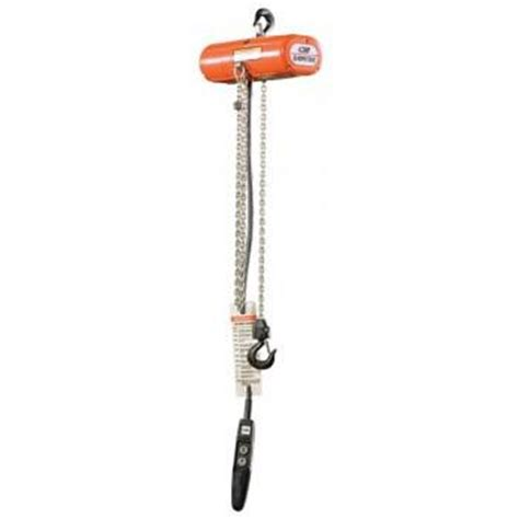 1000 lbs shopstar hoist 10 lift 6 fpm top hook 115v