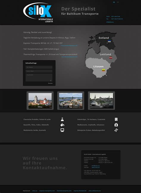 intern websites web design silox baltikum internationale logistics
