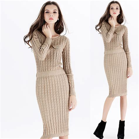 womens knit dresses aliexpress buy 2013 autumn and winter womens knit