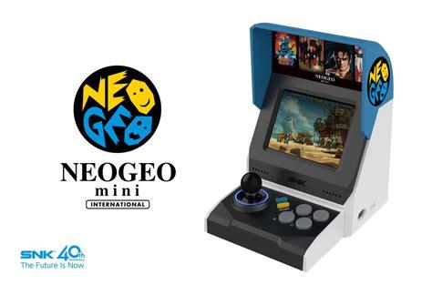 neo geo mini arcade console announced includes 40 classic