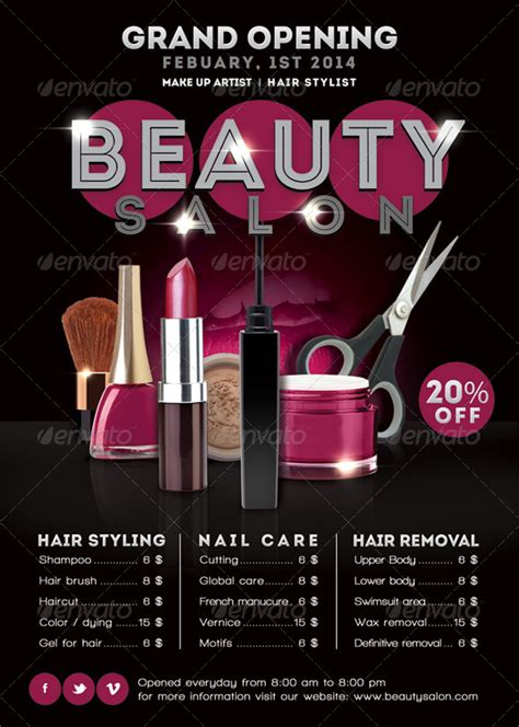 are you opening a new salon or giving your salon design a flyer beauty salon opening promoting graphicriver